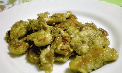 Straccetti di pollo con crema di funghi