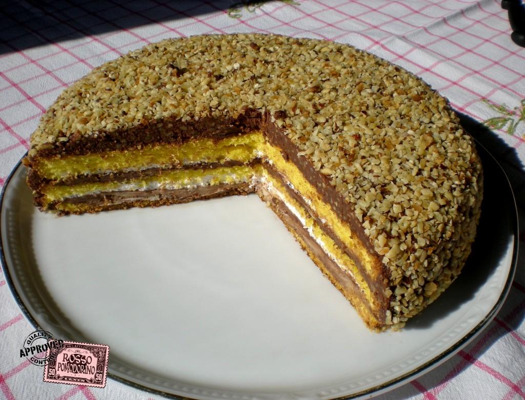 Ale 39 s kitchen rossopomodorino torta con panna e nutella - Glassa a specchio su pan di spagna ...