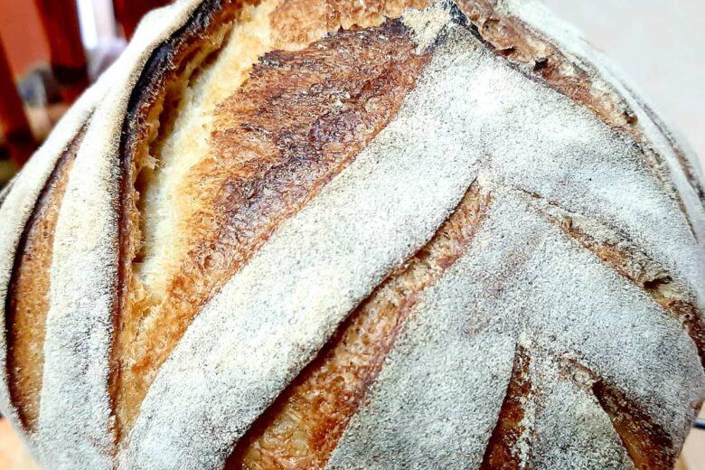 Pane con esubero di lievito madre cotto in pentola