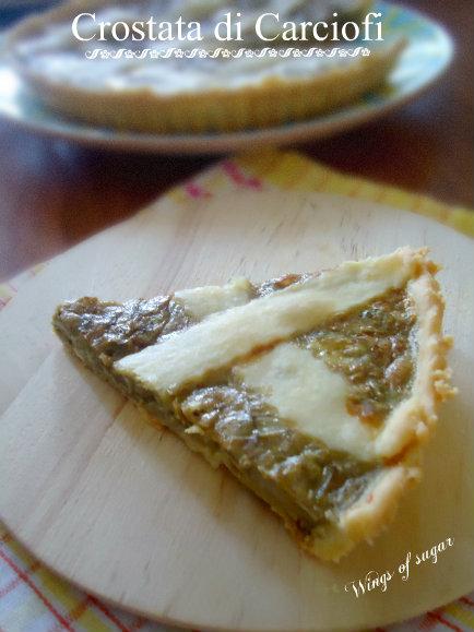 crostata di carciofi - wings of sugar blog