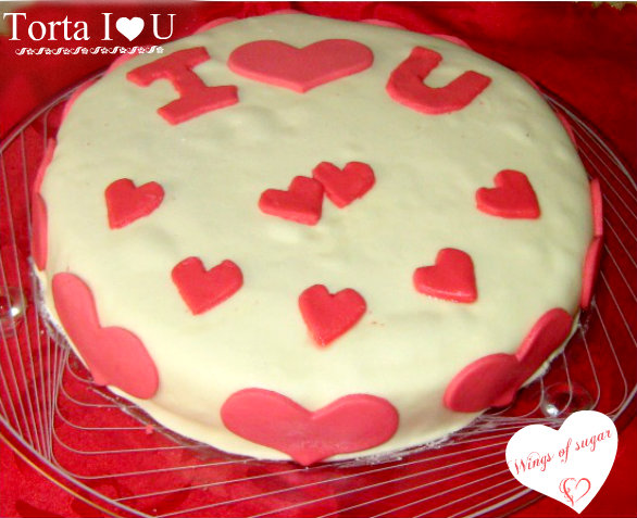 Torta I love you - wings of sugar blog