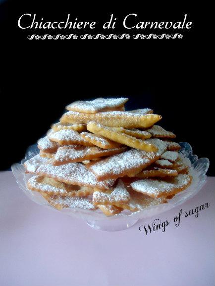 chiacchiere di carnevale - wings of sugar blog