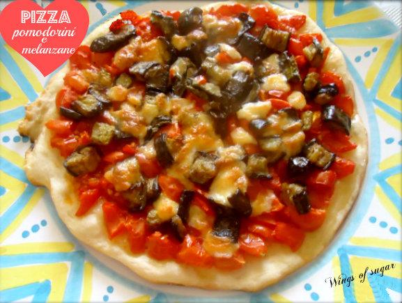 pizza pomodorini e melanzane - wings of sugar blog