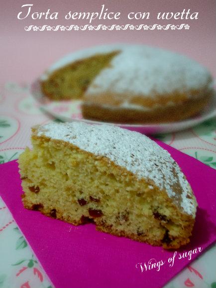 torta semplice con uvetta - panettone flash - wings of sugar blog