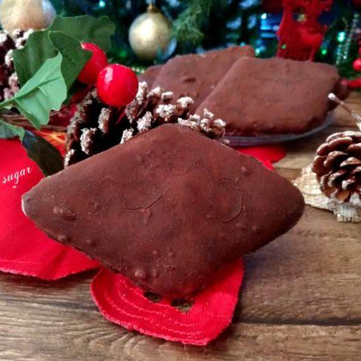Mostaccioli al cioccolato ricetta di natale - Wings of sugar blog