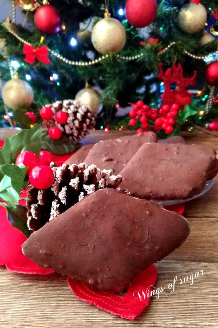 Mostaccioli al cioccolato, ricetta napoletana - Wings of sugar blog