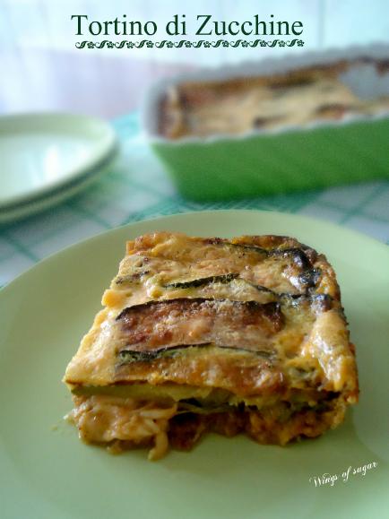tortino di zucchine - wings of sugar blog
