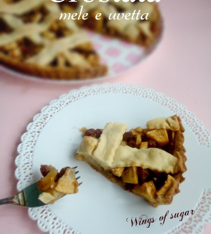 crostata mele e uvetta - wings of sugar blog
