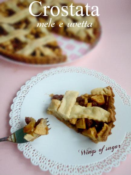 crostata mele e uvetta - wings of sugar blog