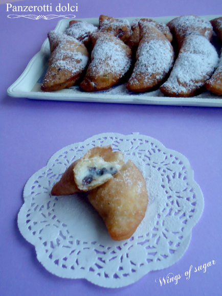 panzerotti dolci ricotta e cioccolato - wings of sugar blog