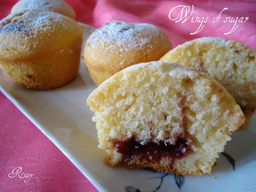 muffin vaniglia e marmellata