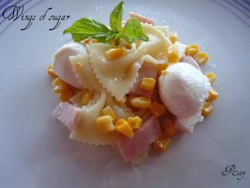 pasta fredda prosciutto mozzarella e mais