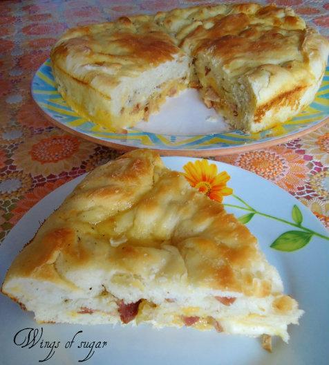 pizza ripiena uova e salumi
