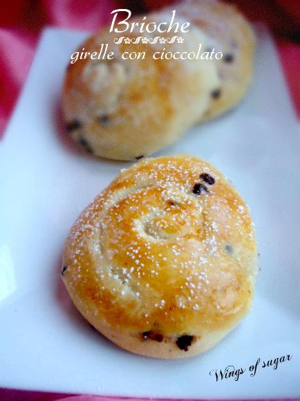 girelle brioche con gocce di cioccolato- wings of sugar blog