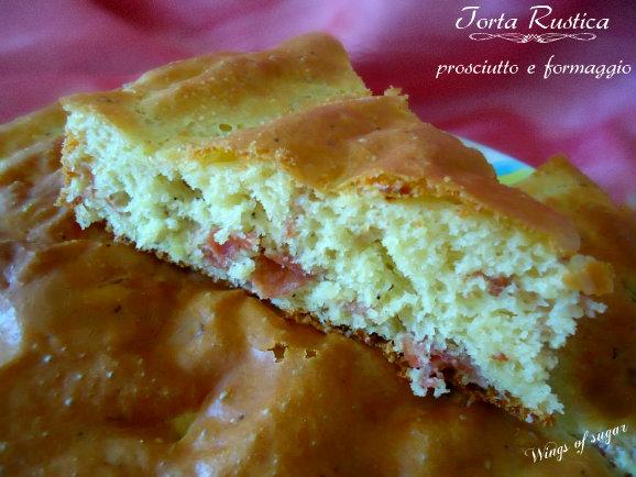 Torta rustica prosciutto e formaggio- wings of sugar blog