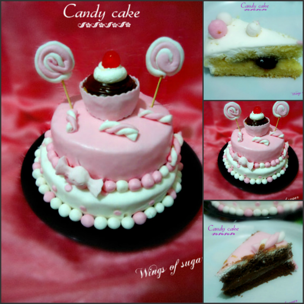 Candy cake collage