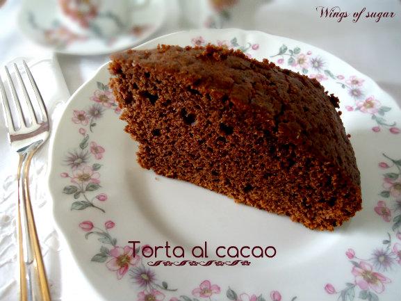 torta al cacao - Wingsof sugar blog