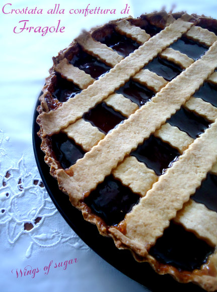crostata alla confettura di fragole- wings of sugar blog