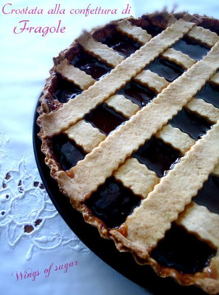 crostata alla confettura di fragole- wings of sugar blog