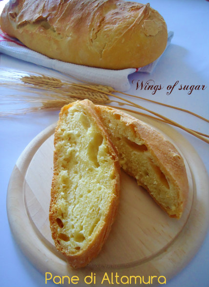 Pane di Altamura fatto in casa - Wings of sugar