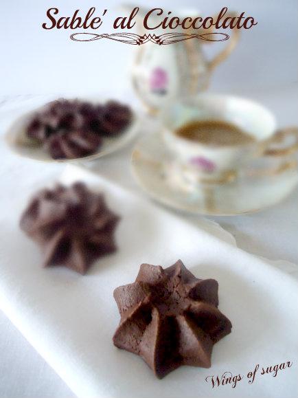 sablè al cioccolato - wings of sugar blog