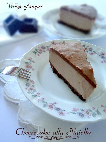 cheesecake alla nutella - wings of sugar