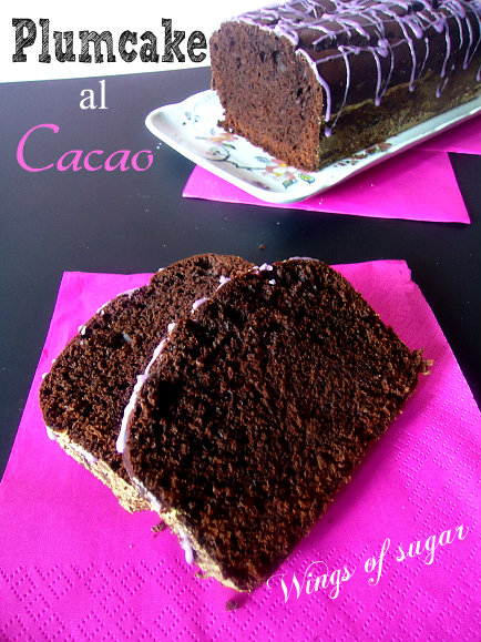 plum-cake al cacao - wings of sugar blog
