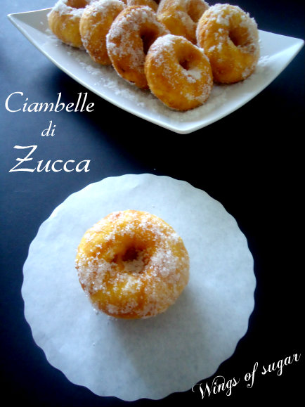 2- ciambelle di zucca - wings of sugar blog