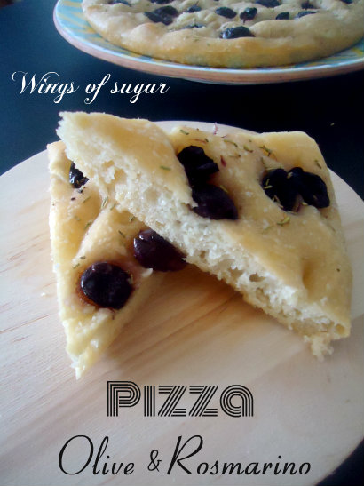 pizza rosmarino e olive - wings of sugar blog