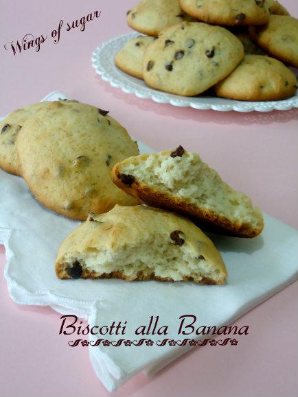 biscotti alla banana e gocce di cioccolato- wings of sugar blog