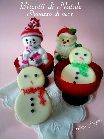 biscotti di Natale pupazzo di neve - wings of sugar blog