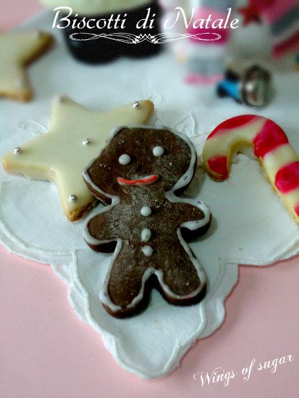 Biscotti di Natale omino di cioccolato ricetta
