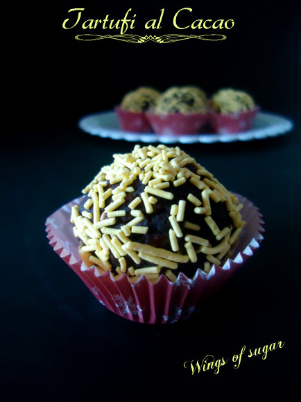 Tartufi al cacao ricetta semplice - wings of sugar blog