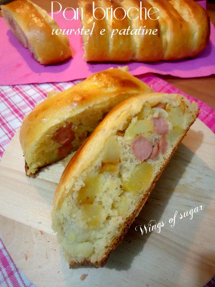 pan brioche farcito wurstel e patatine - wings of sugar blog