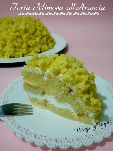 Torta mimosa all'arancia - wings of sugar