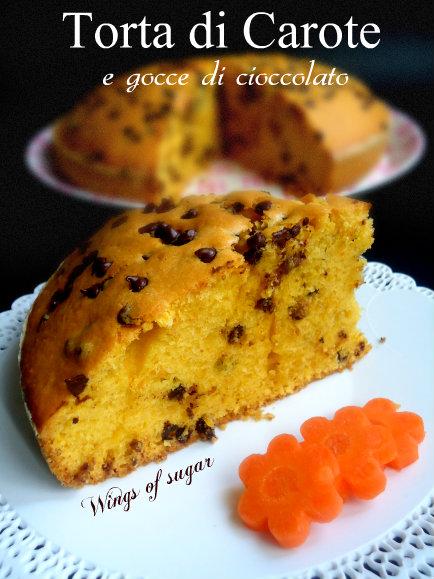 torta soffice di carote e gocce di cioccolato_ wings of sugar blog