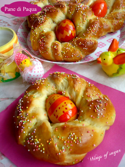 Pane di Pasqua coroncine dolci - wings of sugar blog
