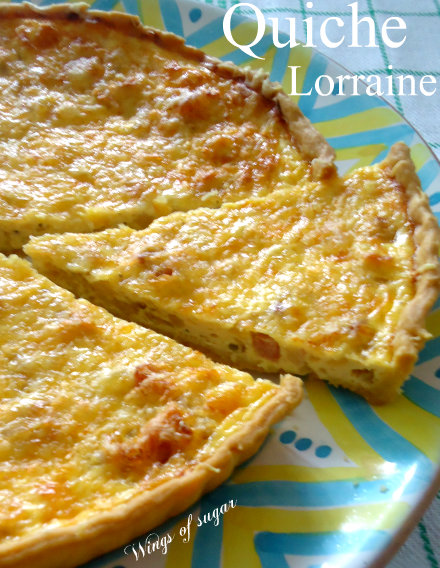 Quiche Lorraine - wings of sugar blog