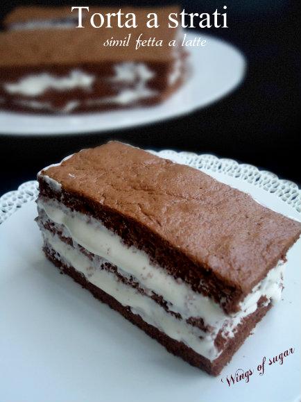 torta a strati simil fetta a latte- wings of sugar blog
