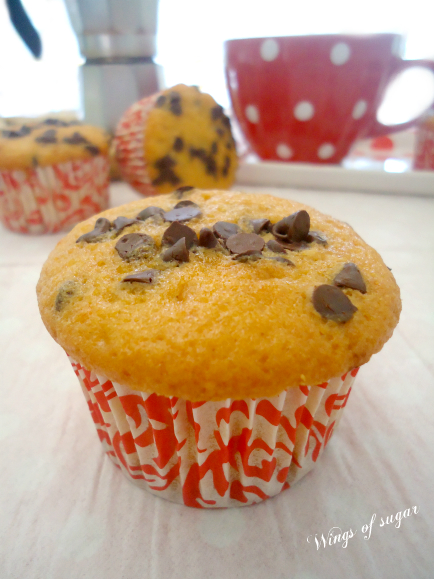 Muffin di zucca e gocce di cioccolato ricetta - wings of sugar blog