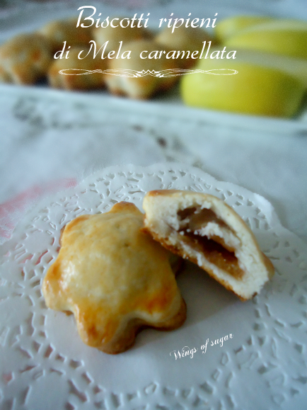 Biscotti ripieni di mela caramellata - wings of sugar blog