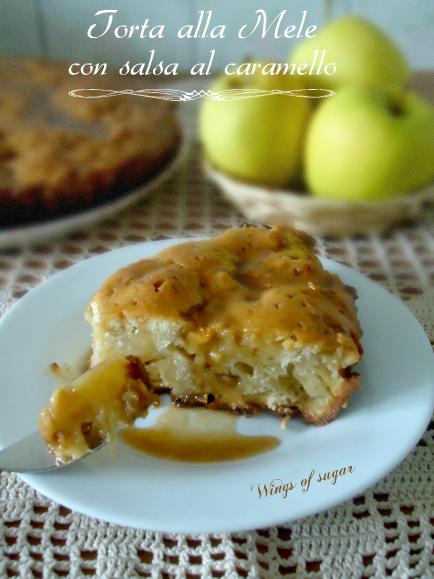 Torta di mele con salsa al caramello ricetta