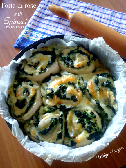 torta di rose agli spinaci - wings of sugar blog