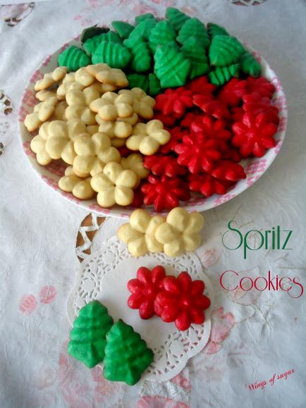 Spritz cokies - wings of sugar blog -