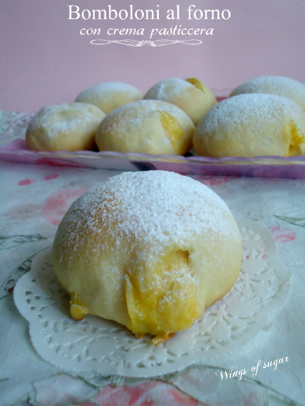 bomboloni al forno con crema pasticcera -wings of sugar blog