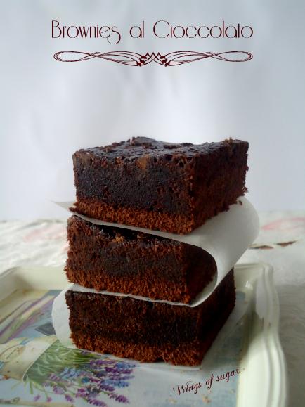 brownies al cioccolato - wings of sugar blog