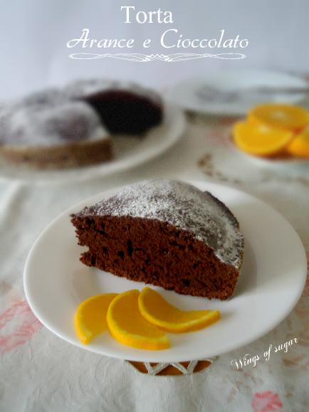 torta di arance e cioccolato - wings of sugar blog