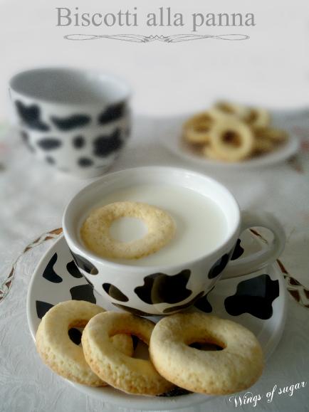 Biscotti alla panna - wings of sugar blog