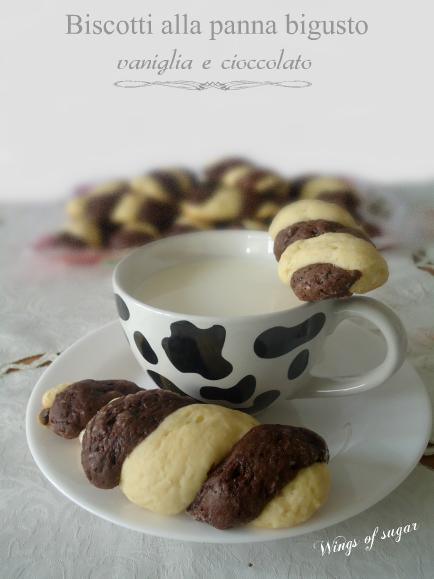 Biscotti alla panna bigusto vaniglia e cioccolato - wings of sugar blog