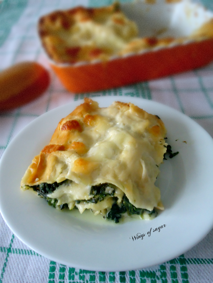 Lasagne di spinaci con besciamella e mozzarella-wings of sugar blog